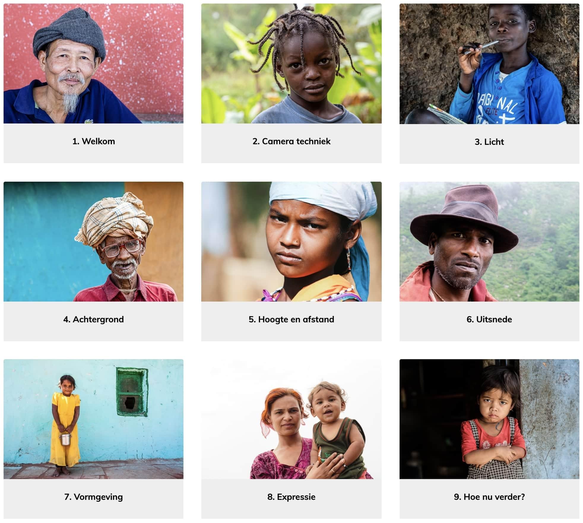 online cursus portretfotografie